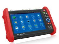 аналоговые мониторы оптовых-Новый 7-дюймовый сенсорный экран CCTV тестер монитор IP аналоговые камеры тестирование 4MP WIFI Onvif PTZ управления POE 12 В выход