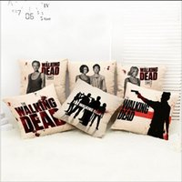 Wholesale Pillow Walks - The Walking Dead Pillow Case 10 styles Rick Crossbow Man Daryl Car Sofa Pillow Cushion Covers new