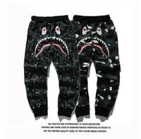 Wholesale Bird Appliques - Mens Sportswear Pants Jogger Tracksuit causel inner Fleece Crewneck Bird OVO Drake Black Hip Hop stusay Men Shark mouth uminous trousers