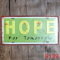Wholesale Wholesale Frame Signs - Hope For Tomorrow Iron Painting No Frame Learn For Yasterday Metal Tin Sign Love Home 30X15 CM Tin Poster Modern 3 99rjj