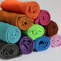 Wholesale Dual Scarf - 30*100cm Fashion Sports Cool towel Summer cooling towels dual layer sports outdoor ice cold scaft scarves Pad quick dry coolcore towels
