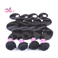 Wholesale real human hair extensions online - Brazilian Body Wave Hair Weaves Doulble Wefts Real Human Hair Dyable Hair Extensions