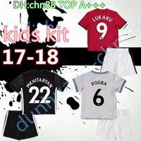 Wholesale Baby Kit S - 2017 2018 United Mata Set Thai Quality kids kit baby Home away 3rd jerseys 17 18 LUKAKU MATA POGBA RASHFORD Soccer jersey Children's