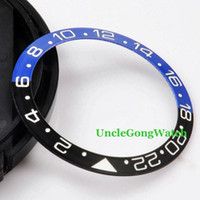 Wholesale diy watch parts - Watch Parts Corgeut mm Black Blue Ceramical Bezel Fit for mm SEA Automatic Watch Timepiece Insert for DIY Clock BZ38SEAKL