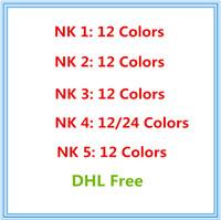 venda de olhos nude venda por atacado-Venda quente de Alta qualidade Maquiagem Sombra de Olho NUDE 12/24 cores da paleta da sombra NUDE 1.2.3.4.5 Livre DHL