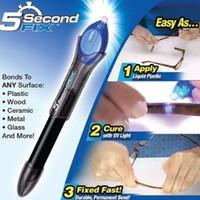 Wholesale Quick Fixes - 5 Second Fix Liquid Glass Welding Compound Glue Repairs Tool Quick Use UV Light Fix Pen   Refill Glue Optional
