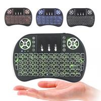 combos clavier souris minces achat en gros de-DHL Rétro-Éclairage Rii i8 Mini Clavier Sans Fil Touchpad i8 clavier pour mini m8s x96 Android TV BOX Air Souris Rétro-Éclairage PS3 Gamepad i8 +