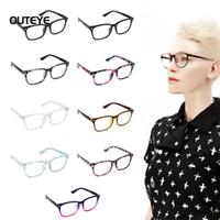 Wholesale Wholesale Geek Eyeglass Frames - OUTEYE 9Color Hot optical myopia glasses clear lens eyewear nerd geek glasses frame sun shade eyeglasses frames for men women W1