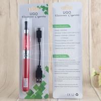 Wholesale Ego Passthrough Starter Kit - 2017 UGO T Evod Battery Passthrough Electronic Cigarette eGo T eVod ce4 Blister Kit 650 mAh Micro USB Vaporizer Pen Starter Kits