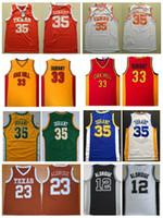 Wholesale School Shirt Men - Texas Longhorns College Basketball Jersey 23 Lamarcus Aldridge 33 Kevin Durant Jersey Oak Hill High School Stitched Basketball Shirts