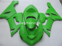 carenado inferior para kawasaki ninja al por mayor-Juego de carenado de plástico de menor precio para Kawasaki Ninja ZX6R 05 06 carenados verdes ZX6R 2005 2006 ZM33