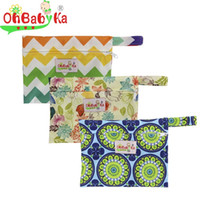 Wholesale Mamas Pads - 10 PCS lot Wet Bag Reusable for Mama Cloth Sanitary Menstrual Pad Wet Dry Bag High Quality Waterproof Bag
