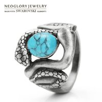 Wholesale Sell Snake Rings - Fashion Original Finger Rings Fashion Jewelry For Women 2017 Neoglory New Arrival Hot Selling Vintage Snake Animal