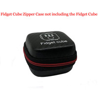 Wholesale Toy Big Zippers - Fidget Cube Case For Stress Relief Focus Decompression Anxiety Toys Fidget Cube Zipper Case Black Free Shipping to All Country