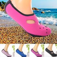 Wholesale Dive Toys - 2-3MM Neoprene Short Beach Socks Non-slip Antiskid Scuba Dive Boots Snorkeling Sock Swimming Fins Flippers Wetsuit Shoes water fun feet