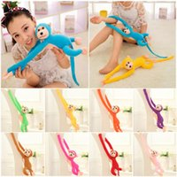 Wholesale decompression toy cm Long Arm Hanging Monkey Plush Baby Toys Stuffed Animals Soft Doll Kids Gift