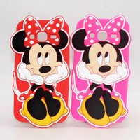 Wholesale Ace Back Cover - 3D Cartoon Minnie Mouse Silicone Soft Cell Phone Cases For Samsung A5 J7 J5 J3 J1 Ace Ace4 Core Grand Prime Duos I9082 G530 Cute Back Cover