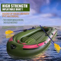 Wholesale Rowing Bags - Professional Single Rowing Boat Pvc Inflatable Boat Fishing Raft Boat PVC Paddle Oar Pump Seat Cushion Bag Rubber Dinghy
