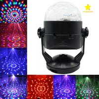 LED Crystal Magic Ball Lights Som Ativado DJ Stage Lights com Suker para Disco Party Xmas Wedding KTV Bar Club Pub