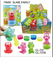 Wholesale Toys Suckers - Wholesale- Helen115 Lovely Slime Family Suckers Sensory Fidget Toy ADHD Autism Stress Relief Toy