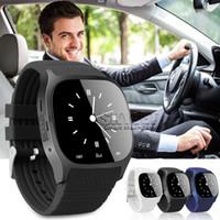 m26 smartwatch großhandel-M26 Smart Watch Bluetooth Wireless Smartwatch Passometer-Monitor SMS-Nachrichten für Android IOS-Handys mit Retail-Box