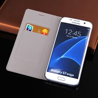 Wholesale Note Flip Back Cover - For Samsung Galaxy S7 Edge S8 Plus Note 8 Slim Leather Wallet Case Flip Back Cover With Card Holder Sleeve Shell