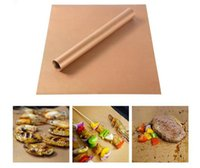 Wholesale Bbq Tool Storage - Copper Grill Mat Barbecue 33*40CM Grilling Liner BBQ Portable Non-stick Reusable Oven Hotplate Mats Outdoor Picnic Tool 200pcs