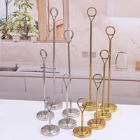 Wholesale Wedding Menu Cards - Upscale Gold Silver Stainless Steel Table Number Place Card Holder Menu Stands for Wedding Restaurant Home Decoration