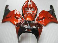 kawasaki ninja zx7r karosserie großhandel-Karosserie frei anpassen Verkleidungen für Kawasaki Ninja ZX7R 96 97 98 99 00-03 Wein rot schwarz Verkleidung Kit ZX7R 1996-2003 TY46