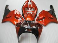 черный красный zx7r обтекатель оптовых-Бесплатная настроить обтекатели кузова для Kawasaki ниндзя ZX7R 96 97 98 99 00-03 вино красный черный обтекатель комплект ZX7R 1996-2003 TY46