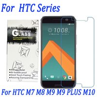 Wholesale M7 Screen Protectors - 9H 2.5D 0.26mm Tempered glass screen protector film for HTC M7 M8 M9 M9 PLUS M10 with retail package