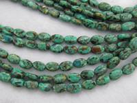 ingrosso filamenti ovali di branelli in gemma-commercio all'ingrosso 2 strands 8-12mm Africano del turchese della pietra preziosa verde marrone ovale uovo turchese perline gioielli fascino