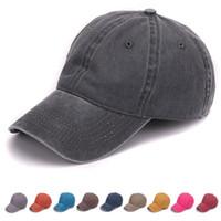 homens de moda de areia venda por atacado-Nova Moda Simples tingido areia lavada tampão de algodão macio em branco bonés de beisebol pai chapéu nenhum bordado mens cap chapéu para homens e mulheres