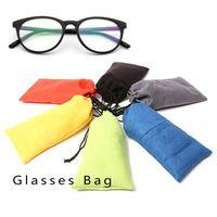 Wholesale Soft Eyeglass Pouches - 10PCS LOT Free Shipping Waterproof Leather Plastic Sunglasses Pouch Soft Eyeglasses Bag Glasses Case Many Colors Mixed