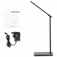 Wholesale Led Desk Ac - Hot selling LED Desk Lamp Table lights Folding Eye-friendly 4Light Color Temperature Book Light with Wireless Desktop Charger