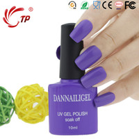 Wholesale Light Color Nail Polishes - Wholesale- Dannail Gel #42 Light Color 10ml Long Lasting Soak Off UV Gel Nail Polish Nail Art UV Manicure Cosmetic Tools Blink Gel