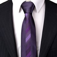 lazo flaco gris al por mayor-Nuevo Slim Tie Purple Grey Silver Silver Geometric Mens Neckties Skinny 100% Silk Jacquard Woven Exquisite Free Shipping Wholesale