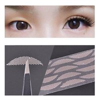 Wholesale Eye Doubling Glue - Wholesale-60Pairs Double Eyelid Tape Invisible Eye Charm Double Eyelid Tape Sticker Lace Trial Makeup Tools Beauty Essentials Without Glue