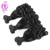 Wholesale Bouncy Curls - New Style Brazilian Virgin Funmi Hair Bouncy Curls Natural Black Color 3 Bundles funmi hair best quality free shipping