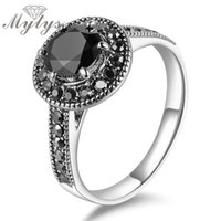 All'ingrosso - Mytys Black Crystal Ring GP pacchetto con gioielli GIFT BOX per donne R584