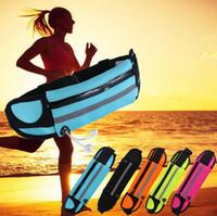 kemer fermuarı toptan satış-Su geçirmez Spor Koşucu Bel Bum Çanta Koşu Koşu Kemer Kılıfı Zip Fanny Paketi Spor Paketleri 50 adet OOA3757