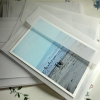 Atacado-5pcs / lot 175 * 125mm Nova Coreia do vintage Blank envelopes translúcido vellum / DIY Multifunction / lovely Gift