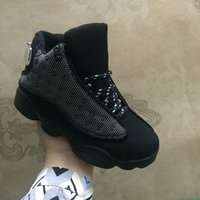 Wholesale Quality Childrens Shoes - Retro 13 Black Cat kids shoes child shoe Girls Boys 13s High Quality Sport Shoes Childrens Sneakers Basketball Shoes
