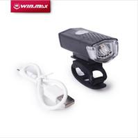 ingrosso luce del manubrio della bici-Winmax Outdoor Accessori per biciclette Ricaricabile Luce ciclistica anteriore Manubrio da bici a LED Luci con 3 modalità di illuminazione