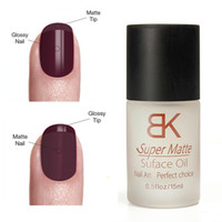 Wholesale super matte nail polish - Wholesale- 1Pcs 15ML Nail Polish Magic Super Matte Transparent Nails Art Gel Frosted Surface Oil Women Manicure Tools