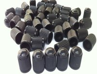 Wholesale Schrader Valve Wholesale - motor caps Black Plastic Dust Valve Caps Bike Car Wheel Tyre Van Covers Seal Air Motorcycle for schrader valve 1000pcs