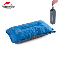 Wholesale Air Foam Pillow - Wholesale- 2017 new NatureHike Automatic Inflatable Pillow for Hiking Backpacking Travel camping nap Portable air pillows with foam
