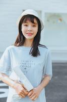 Wholesale Polka Dot Sheer Shirt - The New Summer 2017 College Long Short Sleeve T-shirt Korean Long Short Sleeve T-shirt Match Gauze Two-piece Dress