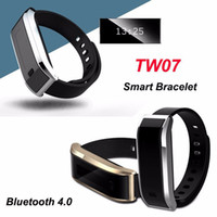 TW07 Smart Band pulsera para Android 4.3 IOS 7.0 impermeable IP-X6 Tracker Fitness Wristbands Smart Watch