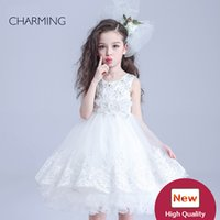 Wholesale China Gowns Online - childrens white dress flower dresses girls and birthday dress girl teen girls dresses high quality dress china online shopping supplier